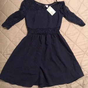 H&M women's navy size 4 dress